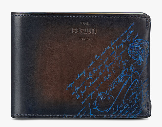 Portefeuille Essentiel Bills En Cuir Scritto, BURNT BLUE, hi-res