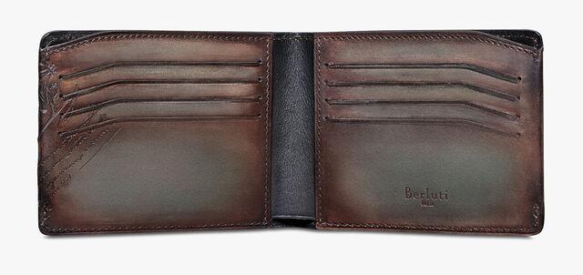 Essentiel Epure Scritto Leather Wallet, ICE BROWN, hi-res