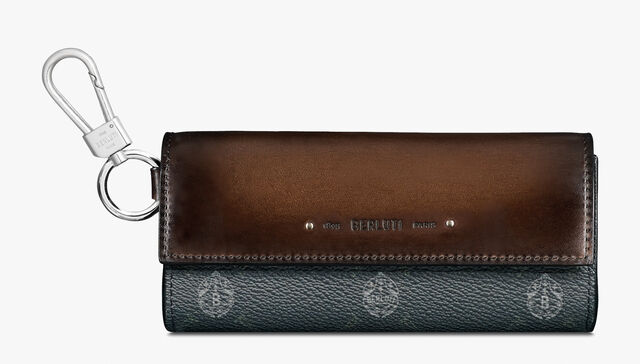 Signature Canvas and Leather Sunglasses Case , BLACK + TDM INTENSO, hi-res