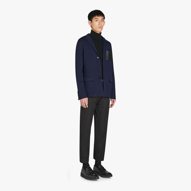 Veste Bicolore Avec Poche Poitrine En Cuir - Coupe Regular, PLEIADES, hi-res