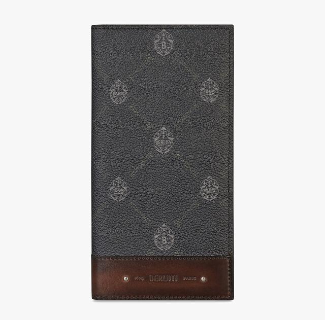 Neo Santal 帆布镶皮革长款钱夹, BLACK+TDM INTENSO, hi-res