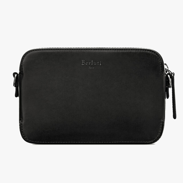 Profil Engraved Calf Leather Clutch - Asia Exclusive, NERO GRIGIO, hi-res