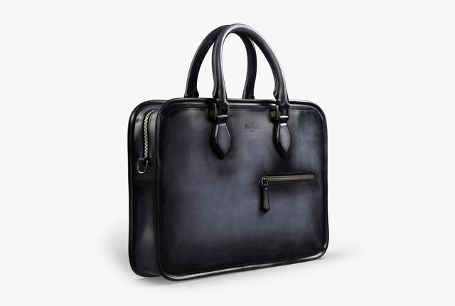 Un Jour Mini Leather Briefcase, NERO, hi-res