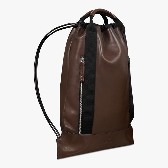 Surface Small Leather Backpack, BRUN, hi-res