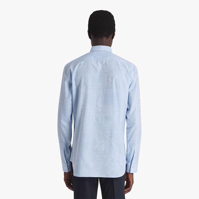Scritto Cotton Jacquard Shirt, ZENITH BLUE, hi-res