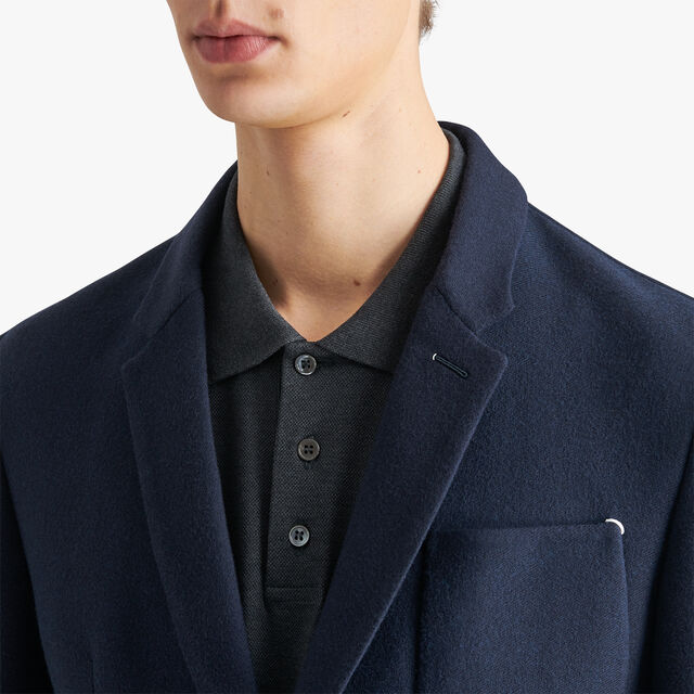 Signature Jacquard Double Face Jacket , SPRING SKY BLUE / NOIR, hi-res