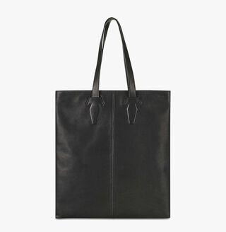 Shadow Leather Tote Bag, NERO, hi-res