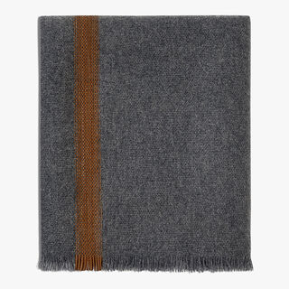 Cashmere & Leather Scarf, DARK GREY, hi-res