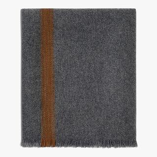 羊绒 & 皮革围巾, DARK GREY, hi-res
