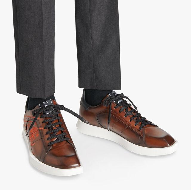 Stellar Scritto 皮革运动鞋, BRUN, hi-res