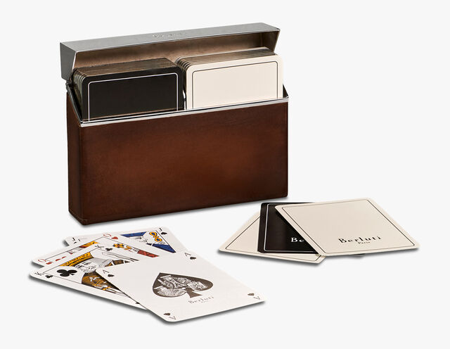 Two Playing Cards Set & Case, BRUN, hi-res
