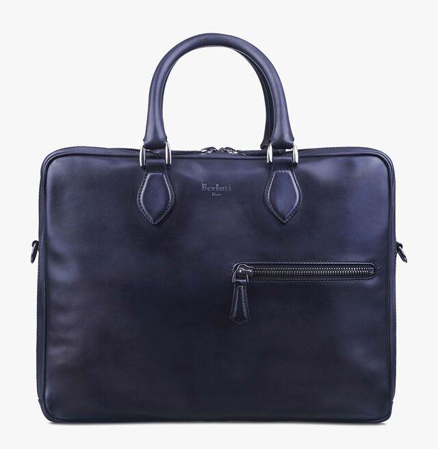 Formula 1001 Large Calf Leather Briefcase, NERO, hi-res