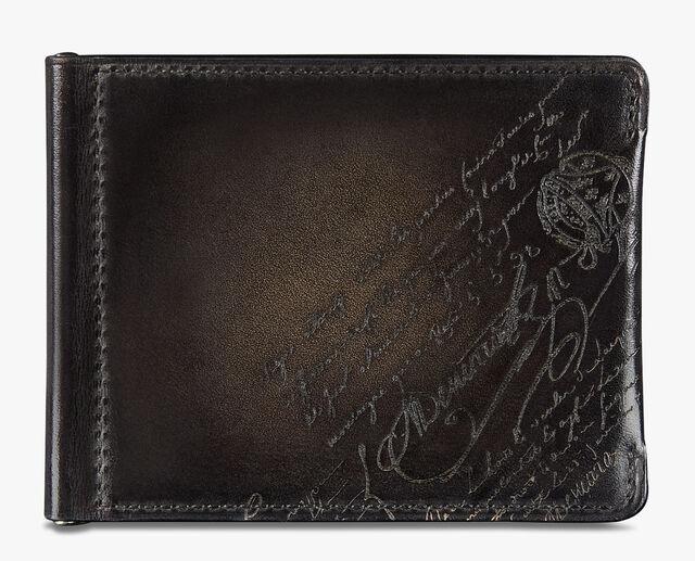 Figure Scritto 皮革钱包, NERO GRIGIO, hi-res