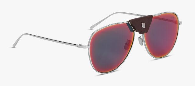 Orion Metal and Leather Sunglasses, EBANO + AMARENTINE, hi-res