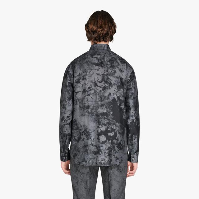 Marble Printed Silk Shirt, MARBLE FERRO, hi-res