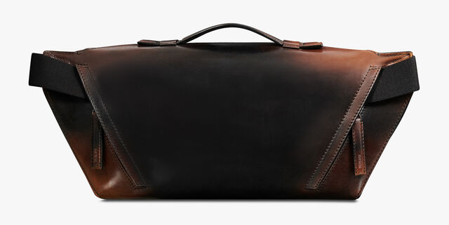 Complice Edge Large Leather Messenger Bag, CLOUDY BROWN, hi-res
