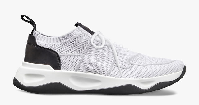 Sneaker Shadow En Maille Et Cuir , WHITE, hi-res