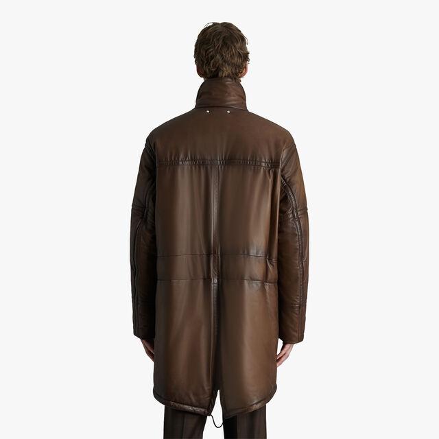 转色皮革羽绒派克大衣, EBANO, hi-res