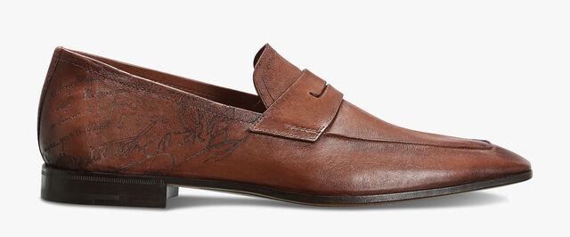 Lorenzo Rimini Kangaroo Leather Loafer, TABACCO, hi-res