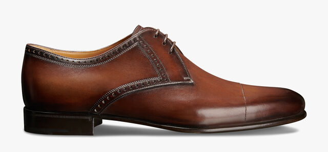 Ponctuation Galet Leather Derby, BRUN, hi-res