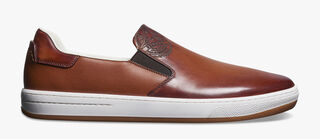 Burano Outline Leather Sneaker, COGNAC, hi-res