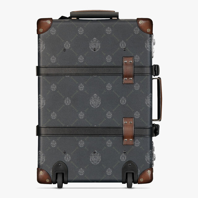 Globe-Trotter Carry On Canvas And Leather Rolling Suitcase