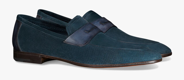 Lorenzo Suede Leather Loafer, NAVY, hi-res