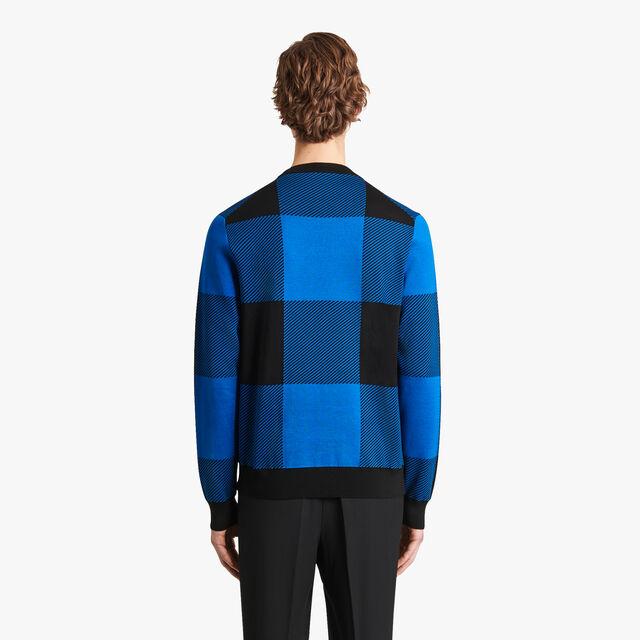 Jacquard Check Sweater, MER DU SUD, hi-res