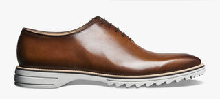 Alessandro Spada Démesure Calf Leather Oxford, MATTONE, hi-res