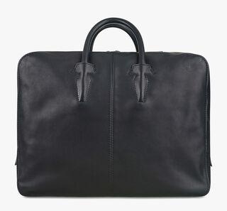 Blackout Leather Holdall, NERO, hi-res