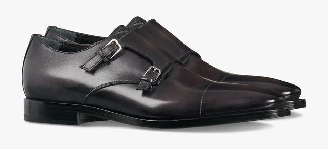 Caractère Eclair Calf Leather Buckle Shoe, DEEP BLACK, hi-res