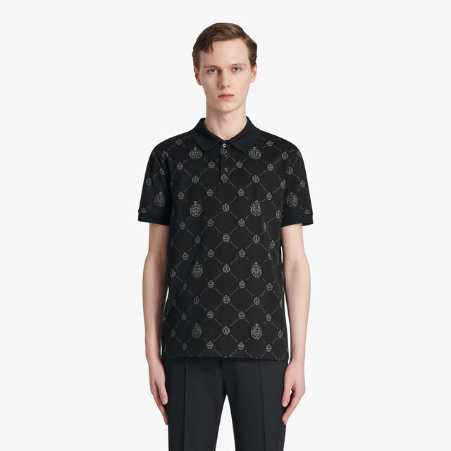 Signature Canvas Polo-Shirt, NOIR, hi-res