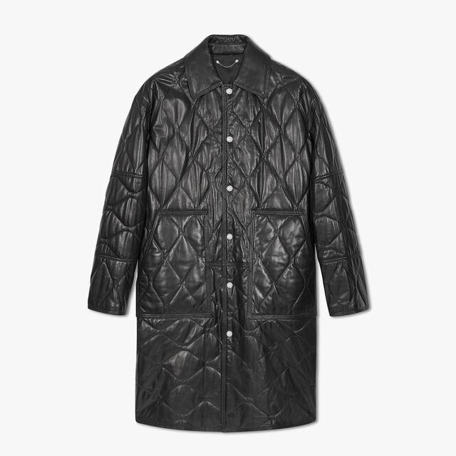 Padded Leather Coat