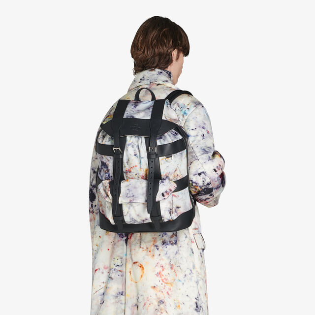 Fraction Medium Nylon Backpack, MARBLE, hi-res