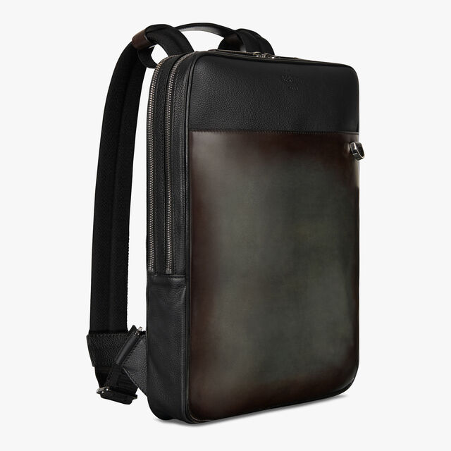 Contraste Medium Leather Backpack, ICE BROWN, hi-res