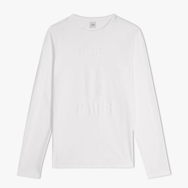 T-Shirt En Coton À Jacquard Logo En Éponge, BLANC OPTIQUE, hi-res