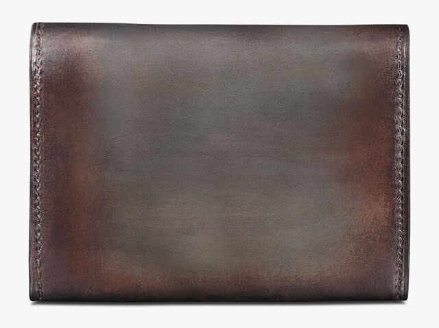 Vision Scritto Leather Card Holder, ICE BROWN, hi-res
