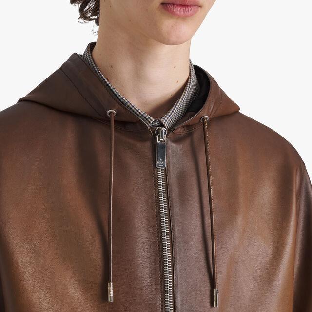 Patinated Light Leather B-Way, BRUN, hi-res
