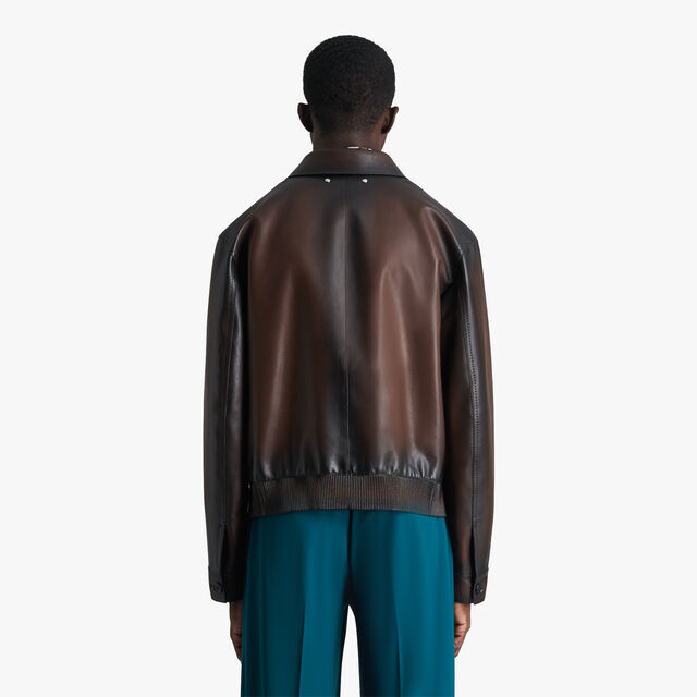 Patina Leather Blouson, EBANO, hi-res