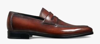 Asymetrique Démesure Calf Leather Loafer, BRUN, hi-res