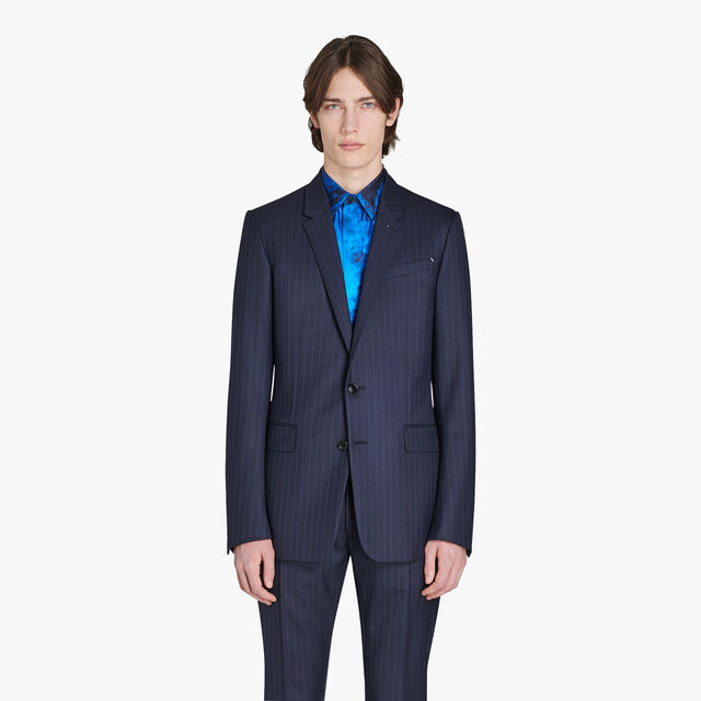 Regular Fit Formal Wool Lined Jacket, CAOS NIGHT/BLUE, hi-res
