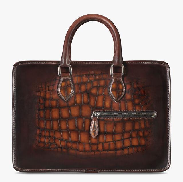 1 Jour Mini Leather Patina Illusion Scales Briefcase, TOBACCO BIS, hi-res