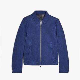 Leather Zip-Up Jacket, BLUE MARINE, hi-res