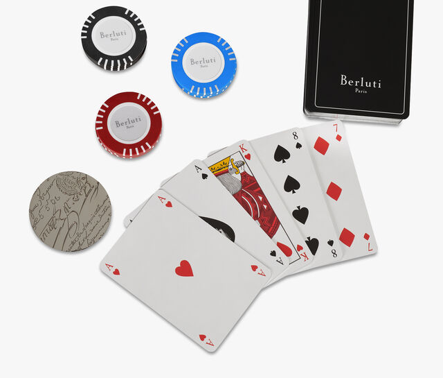 Leather Poker Game, BRUN, hi-res