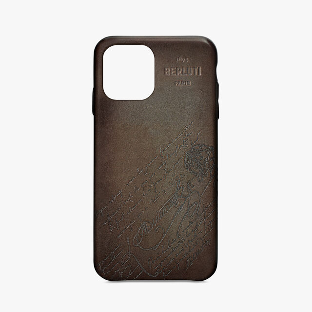iPhone 11 Pro Scritto Leather Case, ICE BROWN, hi-res
