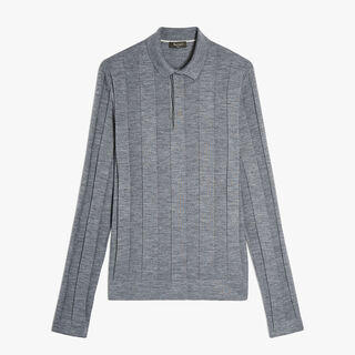 Polo En Laine, CHARCOAL GREY, hi-res