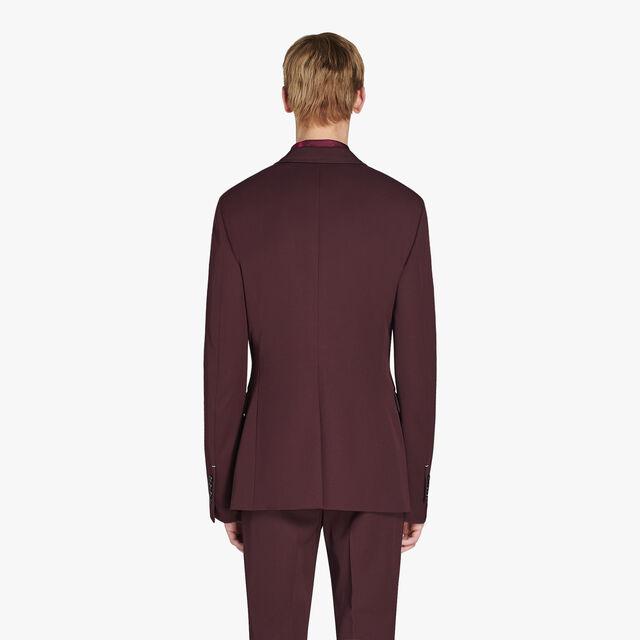 Regular Fit Formal Wool Lined Jacket, NERO BORDO, hi-res