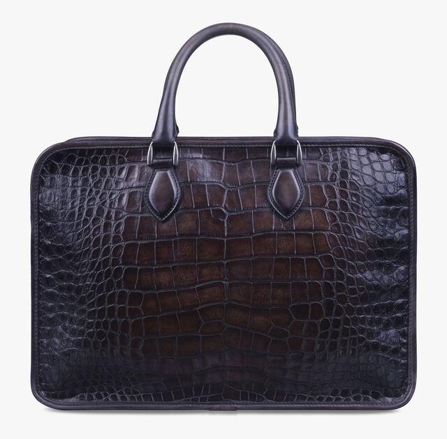 Un Jour Medium Alligator Leather Briefcase, TDM, hi-res