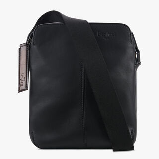 Monolithe Small Leather Shoulder Bag, NERO, hi-res