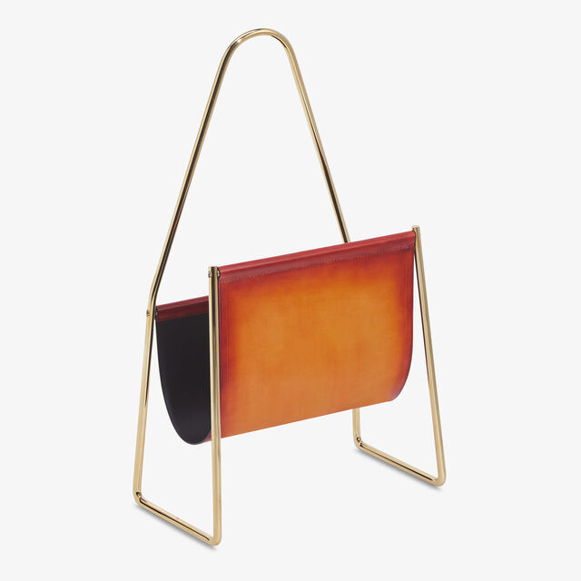 Brass and Venezia Magazine Rack , NESPOLA ORANGE, hi-res